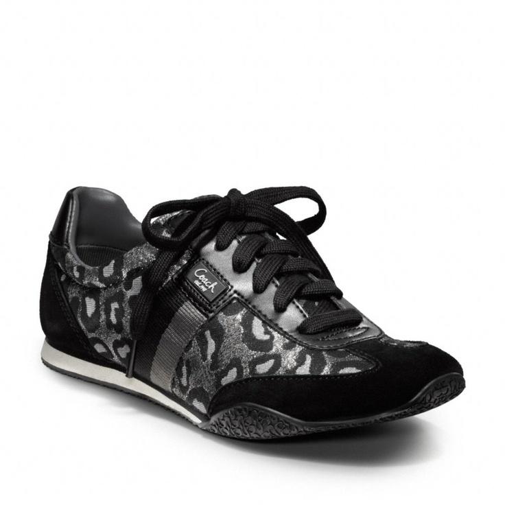 coach leopard print tennis shoes