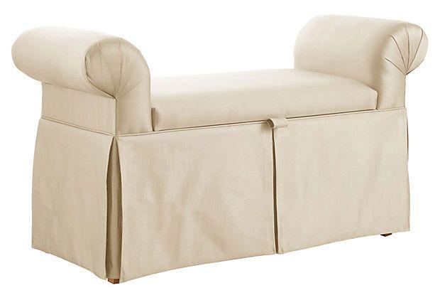 Mara Roll Arm Storage Bench Cream On Possible For Jasmine 39 S Room 299 Mi