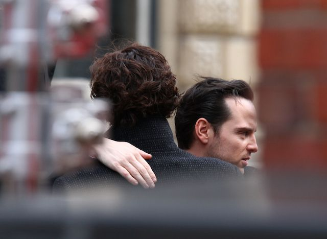 moriartyfortheevening:  I was on Google yesterday finding pictures to update the blog and I found this precious gem. I havent seen this photo yet so you can understand my excitement:)