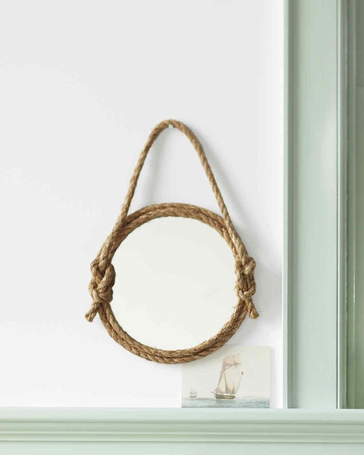 Best 25 rope mirror ideas on pinterest nautical mirror for Nautical rope decorating ideas
