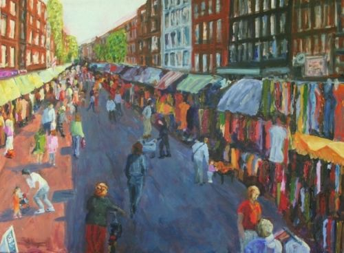 Market painting Amsterdam