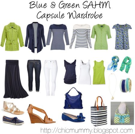 Blue & Green SAHM Capsule Wardrobe / I'd pick a different colour - probably pink.