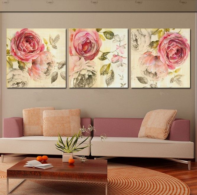 Art And Home Decor Part - 22: Free Shipping 3 Piece Wall Art Home Decor For Your Family Modern Picture  Set On Canvas