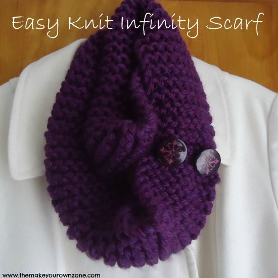 Fast Knit Scarf Pattern : Easy Knit Infinity Scarf Stitches, Yarns and Infinity scarfs