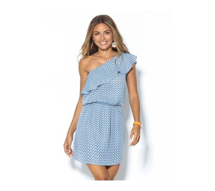 Šaty s asymetrickým volánovým výstřihem | vyprodej-slevy.cz #vyprodejslevy #vyprodejslecycz #vyprodejslevy_cz #saty