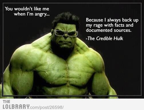 The Credible Hulk - This would be awesome in an English classroom.