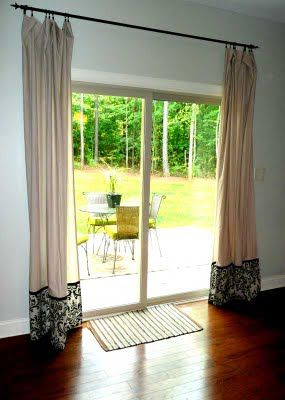 Sliding Glass Door Curtains Kitchen Makeover Pinterest