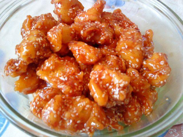 Kínai szezámmagos csirke recept kép