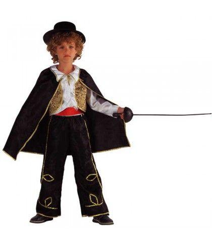 Don Diego στολή για μικρά αγόρια η μάσκα του Ζορό