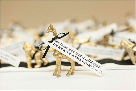 Gold Animal Guest Favors (set of 25)