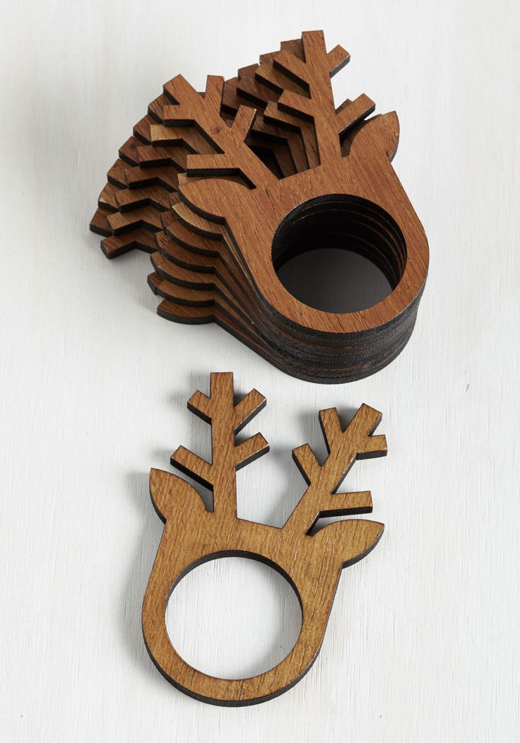 Before, During, and Antler Napkin Rings via Modcloth #dotshopsave