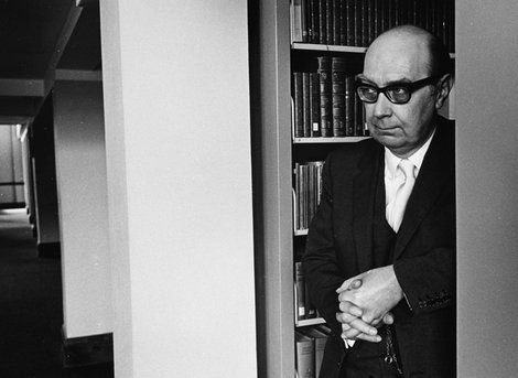 Poet Philip Larkin photo courtesy Fay Godwin/British Library Board
