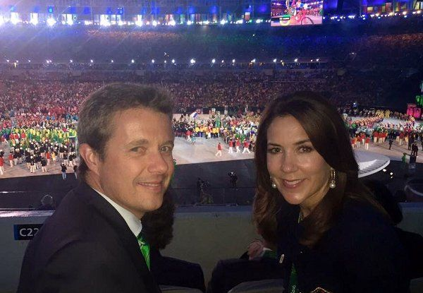 Royal Family at opening ceremony of Rio 2016 Olympic Games