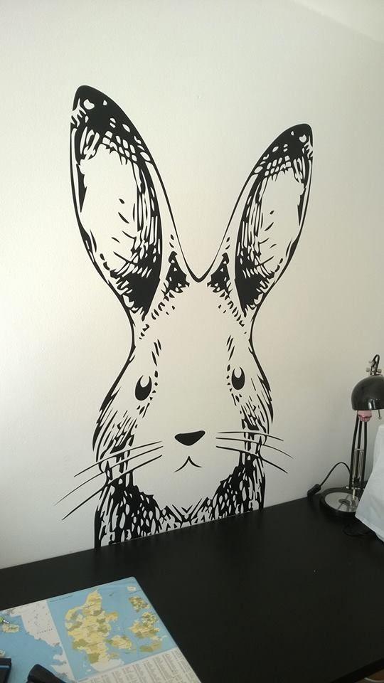 Wallsticker kanin til hjemmet. Bunny DecoStickers.dk