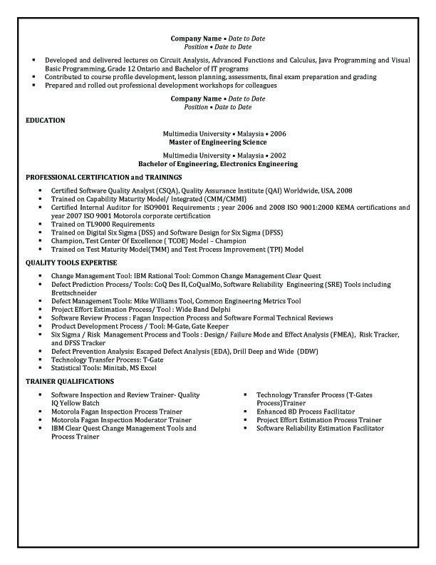 Resume Format For Australia - frizzigame