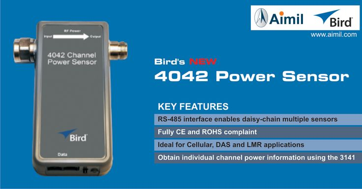 Bird's new 4042 Power Sensor is a key component of your complete RF power monitoring system! http://www.aimil.com/4042-power-sensor