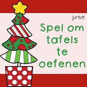 Juf-Stuff: Tafelsommenspel en linkfeestje Kerst