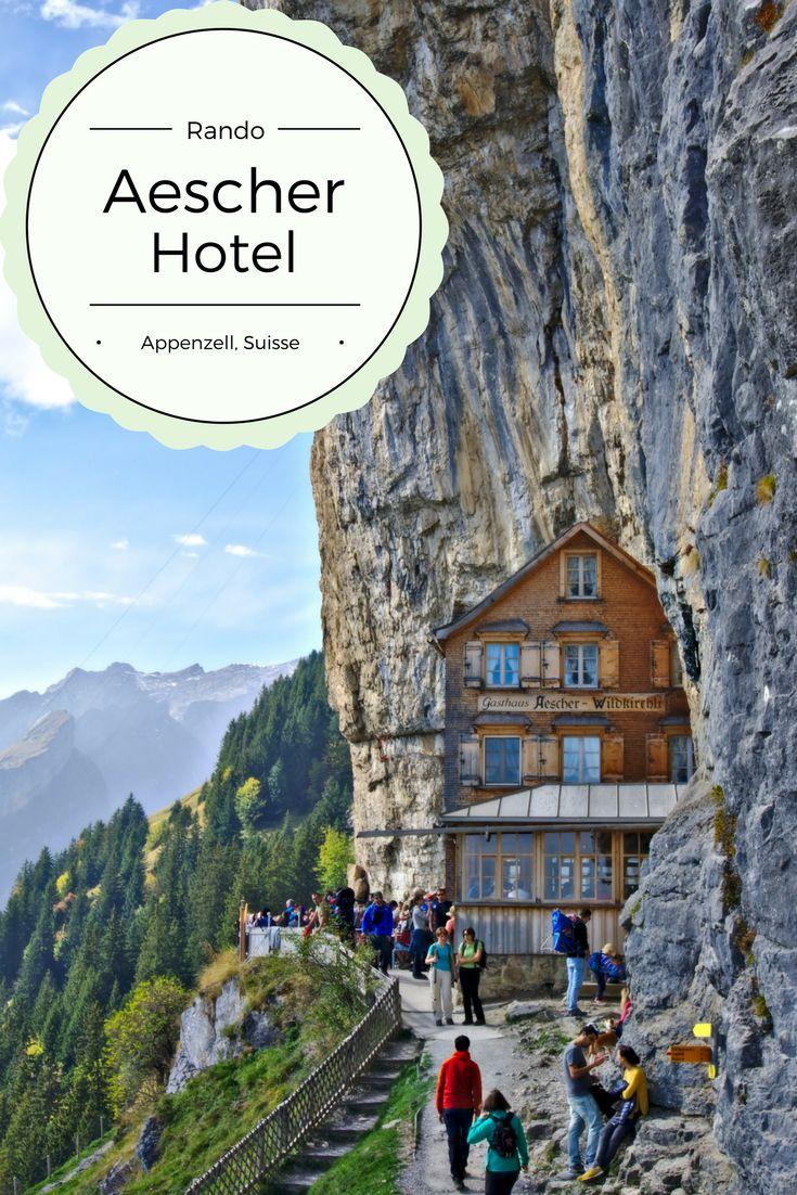L'hôtel Aescher: Idée de randonnée en Appenzell pour aller découvrir ce fameux petit chalet en bois suspendu dans les rochers dans un cadre de rêve.