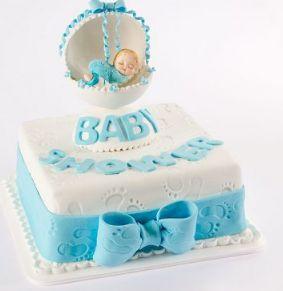 Hermosa torta de baby shower