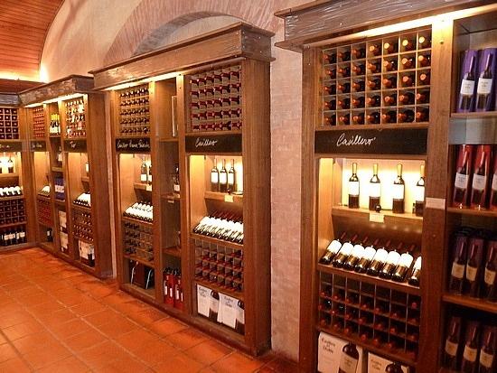 Wine store of Concha y Toro, Santiago, Chile.