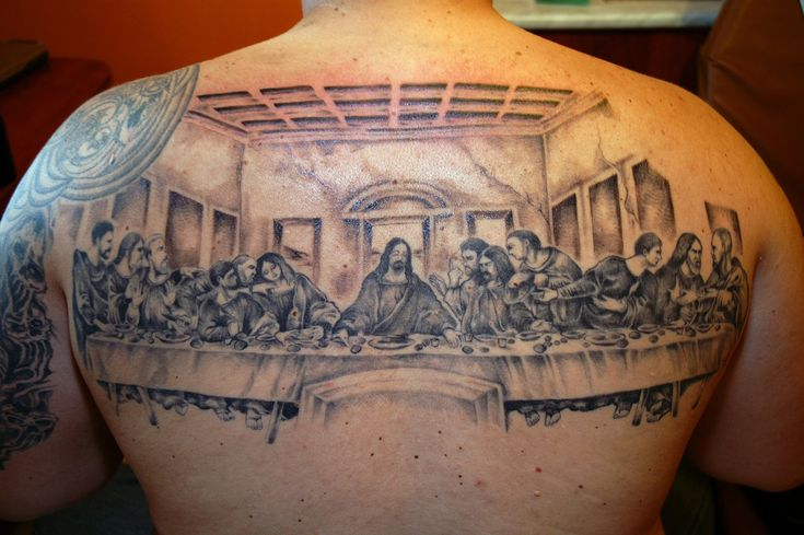 Christian Tattoo Ideas Last Supper Backpiece