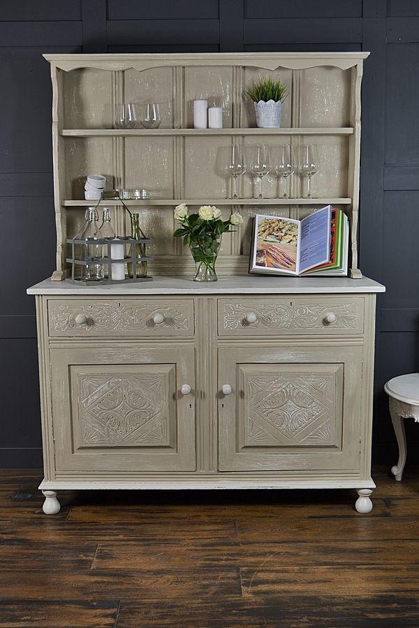 Shabby Chic Antique Oak Kitchen Dresser artwork