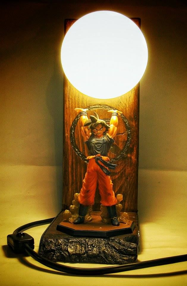 Dragon Ball Z Lamp - wood&steel. Special order, for special person.