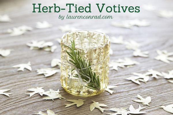 Inspired Idea: Herb Tied Votives
