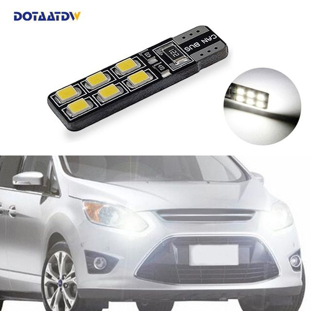 1x T10 W5w Led Wedge Light Marker Lamps Bulb For Ford Focus 2 1