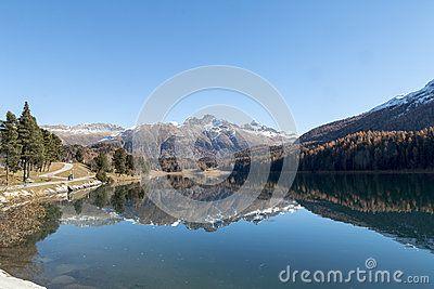 Wonderful landscape with reflection on the lake
