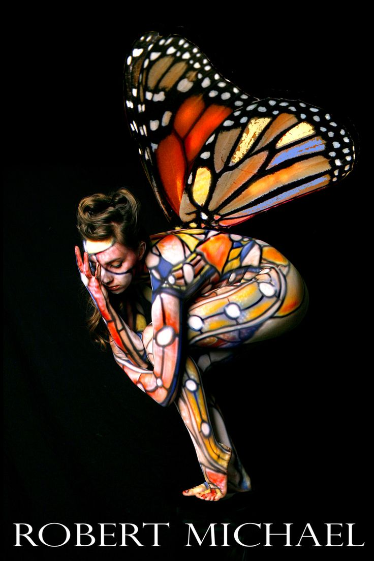 Abs fab! Body Painting by Roustan, Model Lil Miss Kacie. By Robert Michael Studio (2007): Butterflies Women, Butterflies Human, Amazing Body, Body Paintings, Morphs Things, Body Art, Robert Michael, Bodypaint Bodyart, Artists Black White