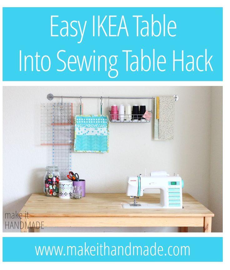 Make it handmade easy diy ikea costura mesa corte - Mesa para maquina de coser ikea ...