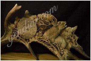 carving in antler (rezba v paroží )