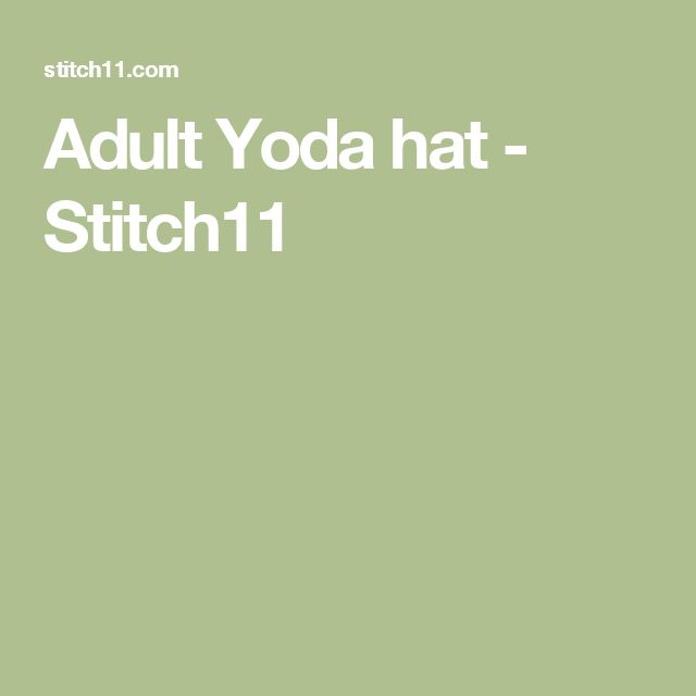 Adult Yoda hat - Stitch11