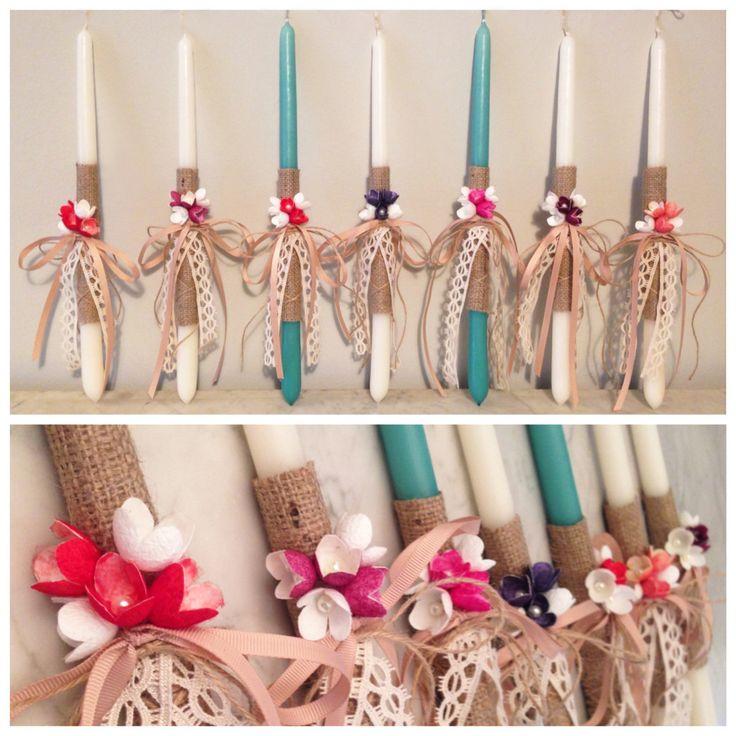 ACCESSORIES | Chryssomally || Art & Fashion Designer - Handmade silk flowers Easter candles
