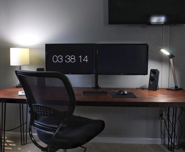 So Much More Room For Activities Mac Mini Setup Macmini Macminiideas In 2020 Desk Setup Furniture Pc Setup