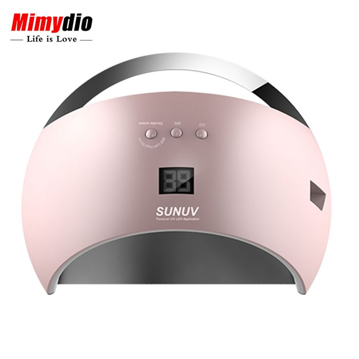 Original SUNUV SUN6 Smart Lamp Nail LED UV Lamp Dryer Metal Bottom LCD Timer Multicolors for Curing UV Gel Polish Nail Art Tools