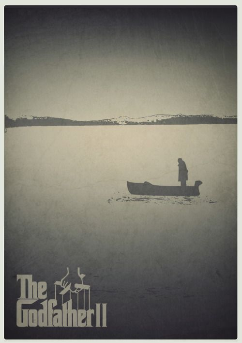 The Godfather Part II - Minimalist movie poster set on Lake Tahoe #GangsterMovie #GangsterFlick