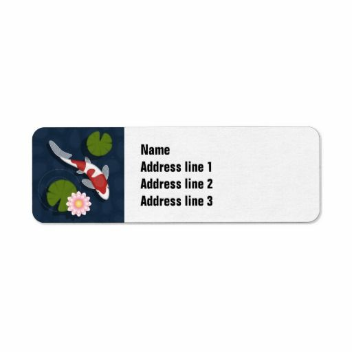SOLD! 5 copies to a customer in TX! Koi Return Address Labels #koi