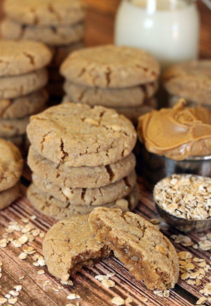 polka-dotted elephants: Peanut Butter Oat Cookies