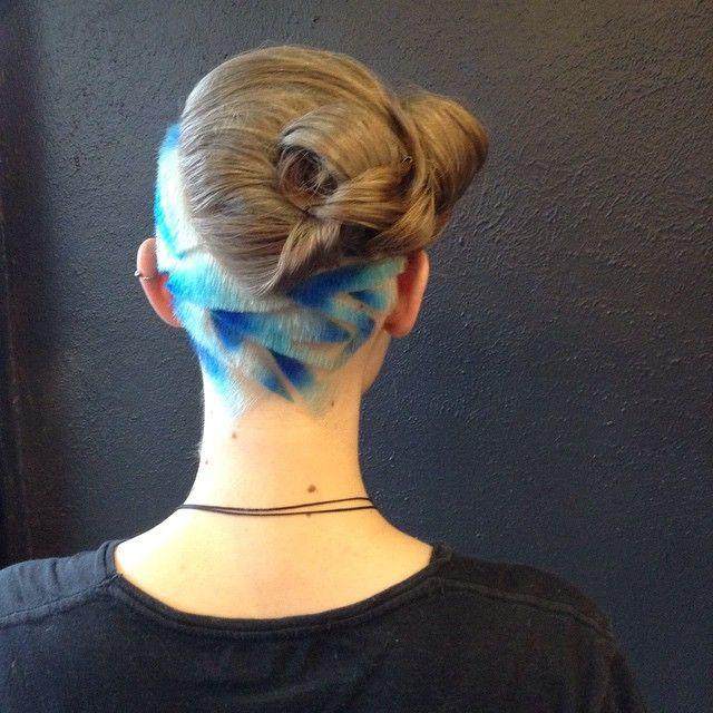 Hairtattoo  made by angela @razordolls . Melbourne  Check them out !♡. Instagram-foto gemaakt door Razor Dolls Salon • 23 juli 2015 om 19:00