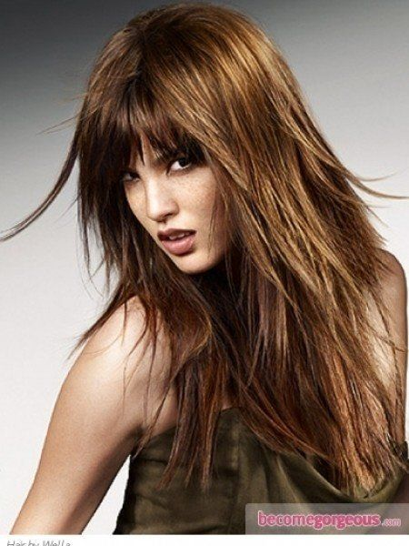 long hair haircut styles 25 best ideas about rocker haircuts on faux 2732 | efa47da9c8ee521f84ba4bb5186ed8eb medium shaggy hairstyles layered hairstyles with bangs