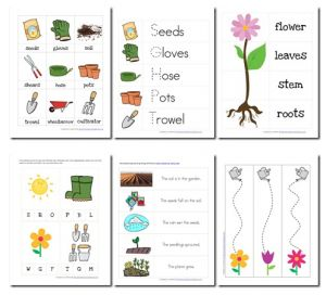 printable pack about gardening pre-k. Perfect for our spring garden focus!