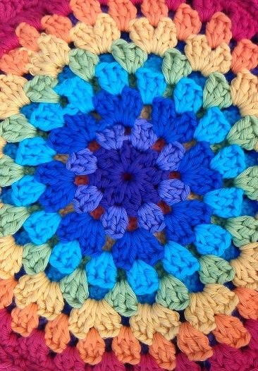 Crochet granny round...I used to know how to do this.
