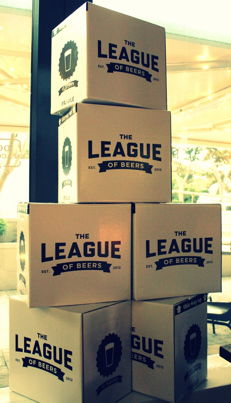 Our gift wrapped League of Beers cases
