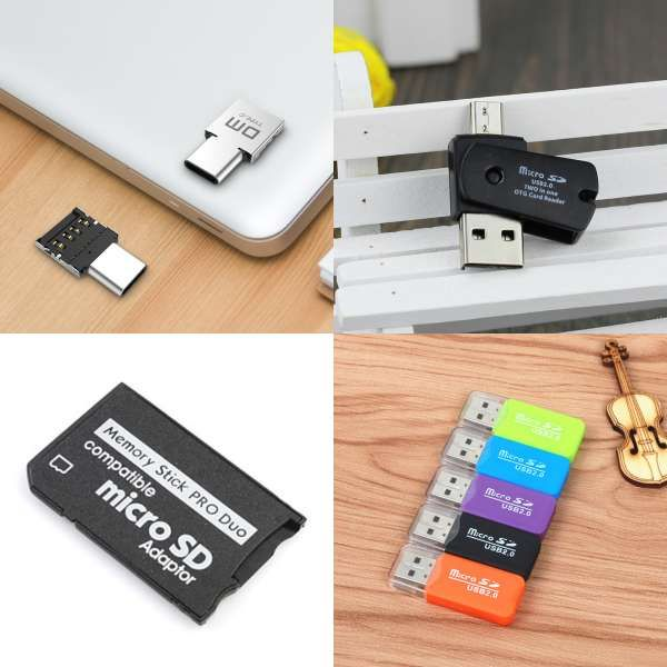 New Mini 4 in 1 USB 2.0 Smart Card Reader Memory Cardreader for MS Pro Duo SDHC