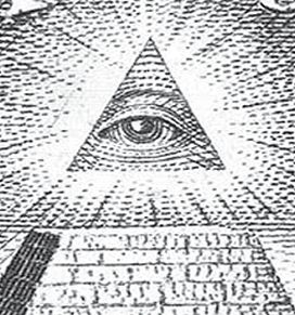 The Eye of Providence: Also known as the All Seeing Eye or the Eye of God. Depicted as a single eye set inside a triangle, it is representative of the omnipresence and omniscience of the Almighty who keeps a watch over all His creation. The symbol has generally been used to guide the wayward mankind and remind one and all that everyone's thoughts as well as deeds are being observed at all times by the Creator of this universe.