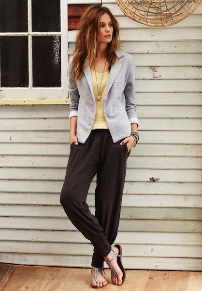 What to wear to a health & fitness bootcamp: Hush harem pants