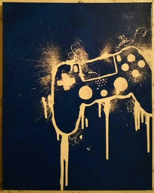 Ps4 Playstation controller gaming canvas Get your own custom piece at https://www.etsy.com/shop/NorthEastKustoms Perfect for any gamer or mancave  Xbox1  Xbox 360 ps3 Nintendo Wii pc art