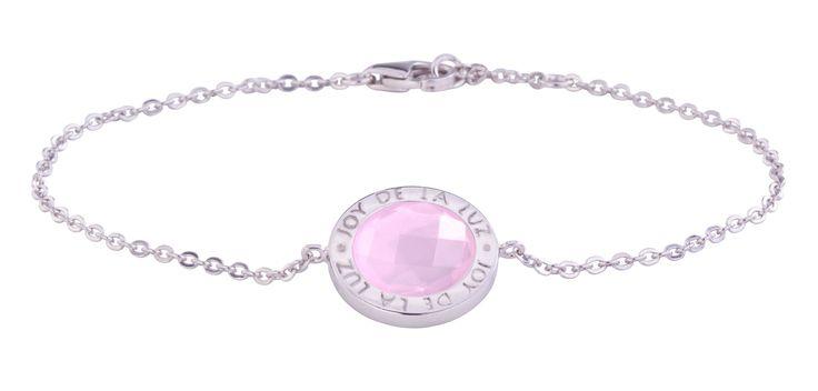 Joy de la Luz   Silver bracelet stone milky rose  €69,95
